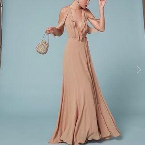 Reformation Cordelia Dress Buff (size 0)